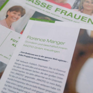 "INNOTIO featured in ""akzent – Klasse Frauen"" magazine"