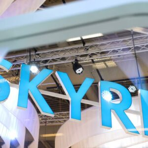 Sky blue booth
